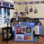 Red White Blue Boys Crib Bedding Set
