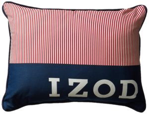 Izod Red White Blue Pillow