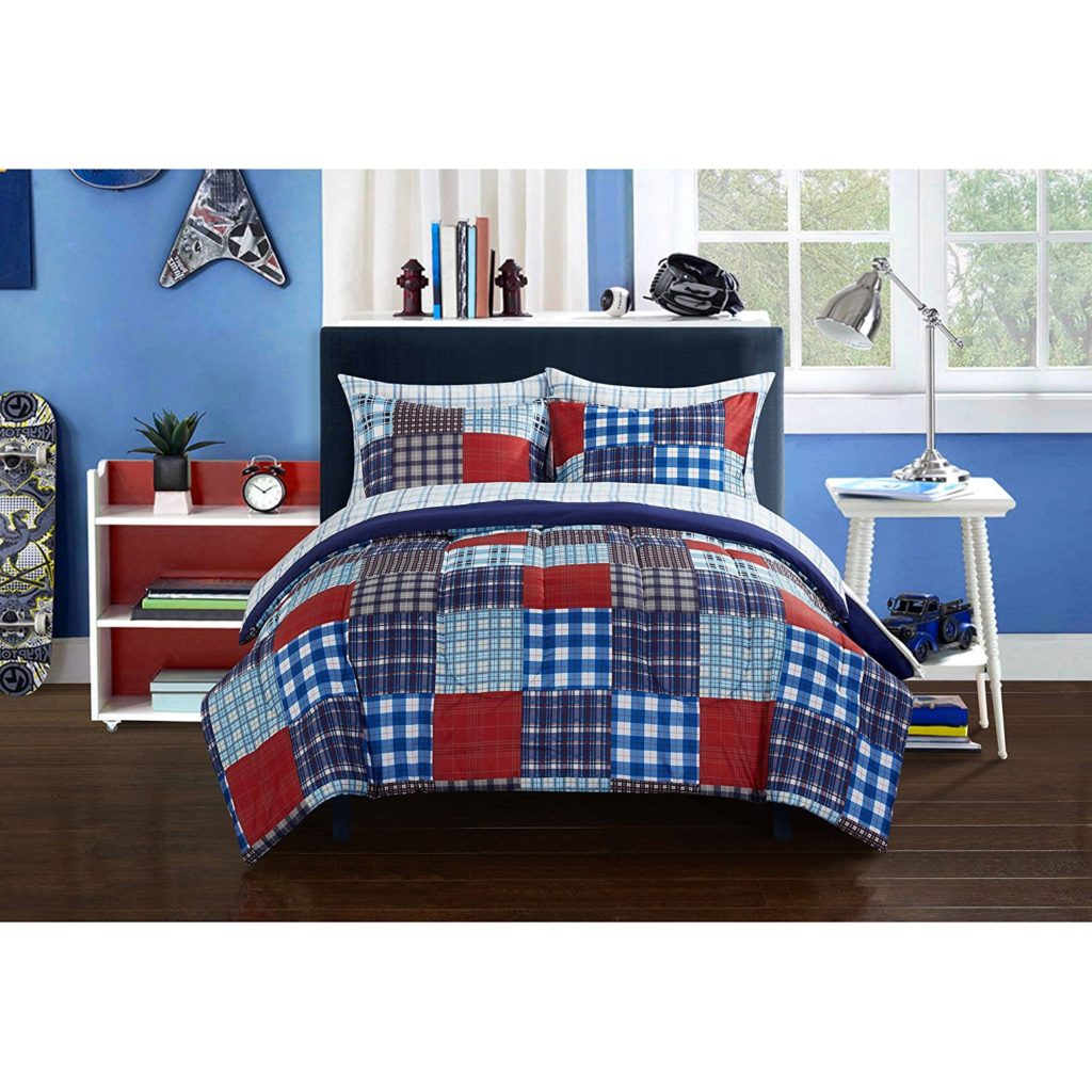 Red White Blue Boys Comforter Set