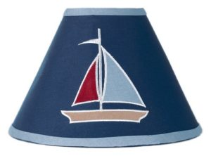 Nautical Red White Blue Lamp shade