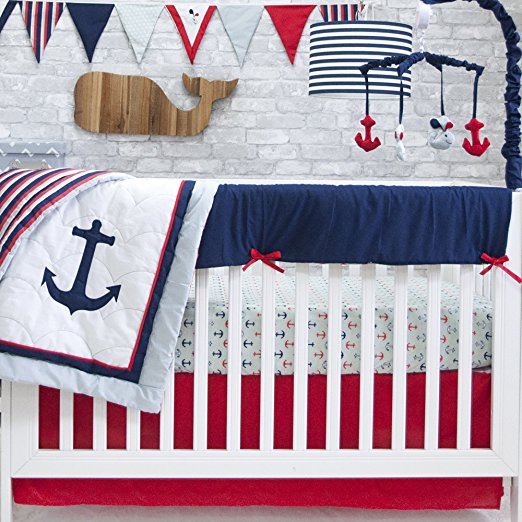 red white blue baby bedding