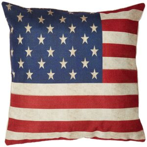 Red White Blue US Flag Decorative Throw Pillow Case Cushion Cover