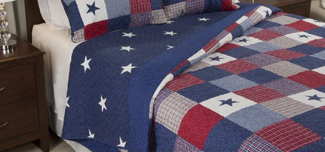 Red White Blue Bedding, Abstract Color Comfy Bedding & Pillow Accessories