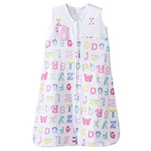 HALO SleepSack Cotton Wearable Blanket, Pink Alphabet Pals, Medium