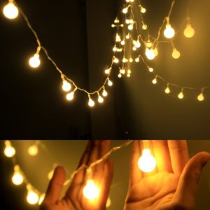 Globe String Light,Dailyart LED Starry Light Fairy Light for Garden,Wedding,Xmas Party (WW, Battery-powered, 13feet 4meters)