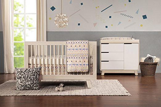 Babyletto Hudson 3-in-1 Convertible Crib, Washed natural - Best Cribs for Babies and Safest Cribs on the Market