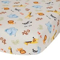 Unisex Best Baby Crib Sheets, Bedtime Originals Jungle Buddies Sheet, Brown-Yellow