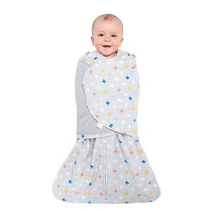 Halo Sleep Sack Swaddle, Micro-Fleece, Plus-Signs Multicolor, Small 1