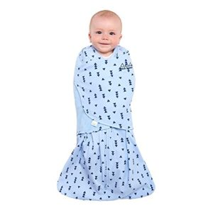 Halo Sleepsack Swaddle, 100% Cotton, Triangle Denim, Blue, Small 1