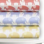 Magnolia Organics Printed, Best Crib Sheets, 300 Thread Count - Standard, Sky