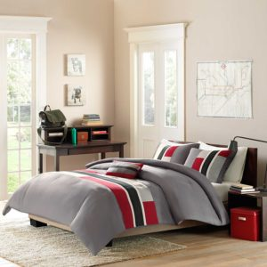 Mi-Zone Pipeline Red White and Blue Bedding Comforter Set, Full - Queen