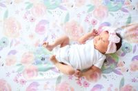 Premium Fitted Cotton Best Crib Sheet, Toddler Sheet Bloom Floral