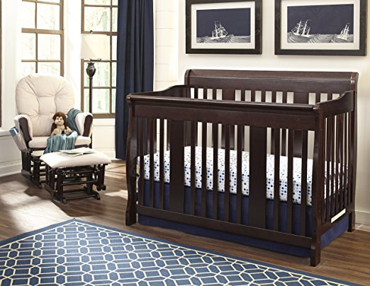 Stork Craft Tuscany 4-in-1 Convertible Crib, Espresso - StorkCraft Best Cribs for Babies and Safest Crib on the Market