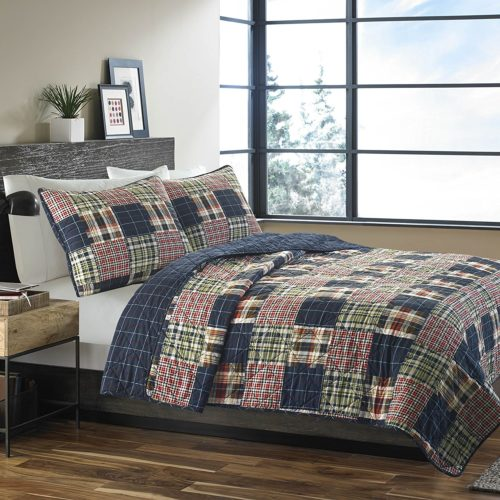 Eddie Bauer 215640 Madrona Cotton Quilt Set, Full-Queen