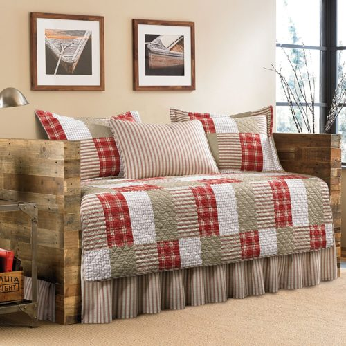 Eddie Bauer 5-Piece Quilted Daybed Set, Twin, Camino Island - Best Rated Eddie Bauer Quilted Daybed Set