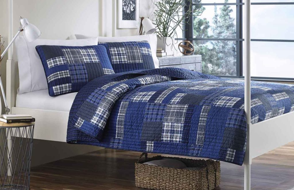 Eddie Bauer Eastmont 3-Piece Cotton Reversible Quilt Set,