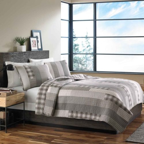 Eddie Bauer Fairview 3-Piece Cotton Reversible Quilt Set, Full-Queen