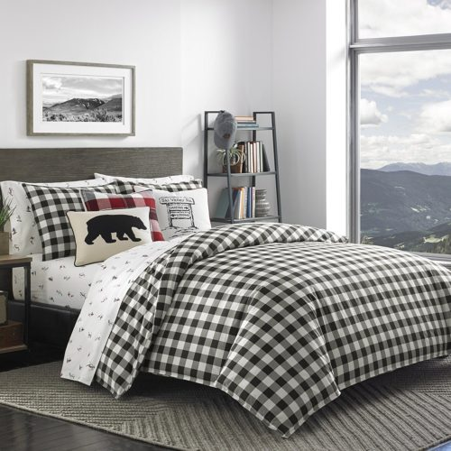 Eddie Bauer Mountain Plaid Comforter Set, Twin, Black - Best Rated Eddie Bauer Comforter Set