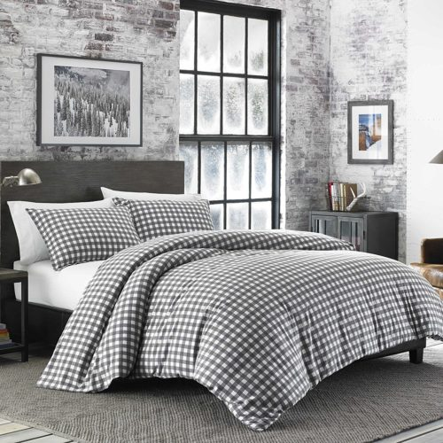 Eddie Bauer Preston Comforter Set, Full-Queen, Dark Grey