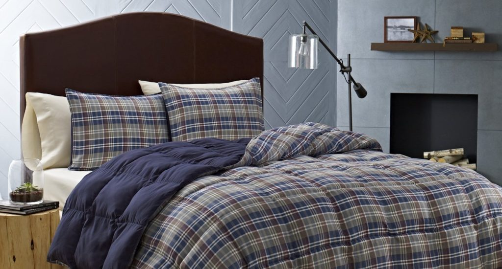 Eddie Bauer Rugged Plaid Comforter Set, Full-Queen, Dune