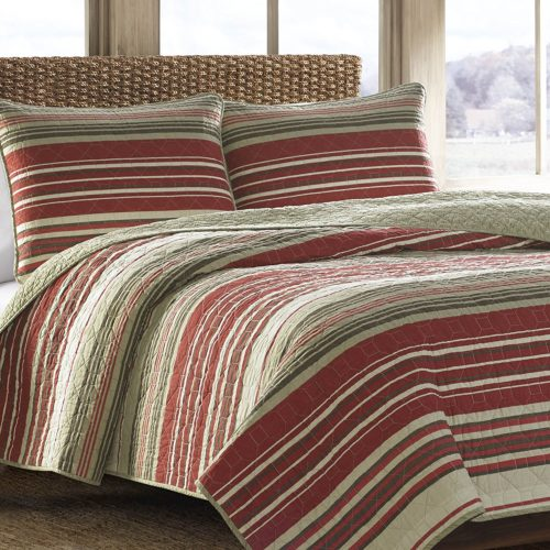 Eddie Bauer Yakima Valley Cotton Quilt Set, King, Red