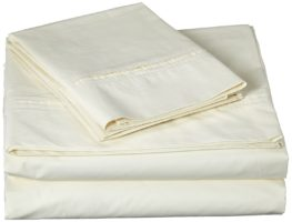 Best Egyptian Cotton Percale Sheets 350 Thread Count Deep Pocket Sheet Set Queen Light Ivory