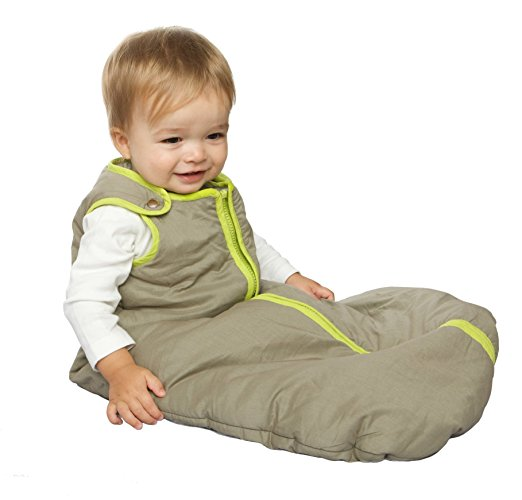 Baby Deedee Sleep Nest Baby Sleeping Bag, Khaki-Lime Green, Medium (6-18 Months) Best Baby Sleep Sack