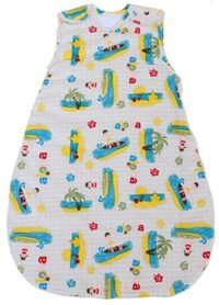Baby Sleeping Bag with Surfer Pattern, Quilted Winter Model 2.5 TOG (Large (22 mos - 3T))