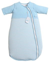 LETTAS Unisex Baby Cotton Removable Long Sleeve Zip up Sleeping Bag Thicken 3.5 TOG Blue (18-36 Months)