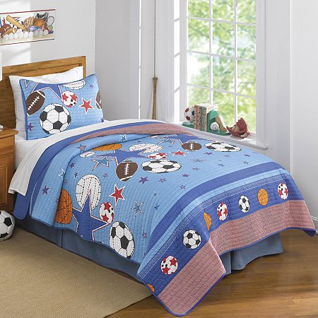 Pem America Sports and Star Quilt, Queen