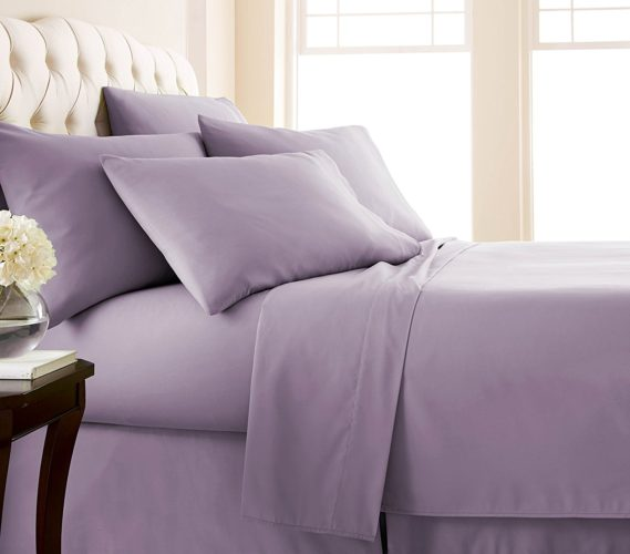 Southshore Fine Linens - 6 Piece - 21 Inch - Extra Deep Pocket Sheet Set (King, Lavender)