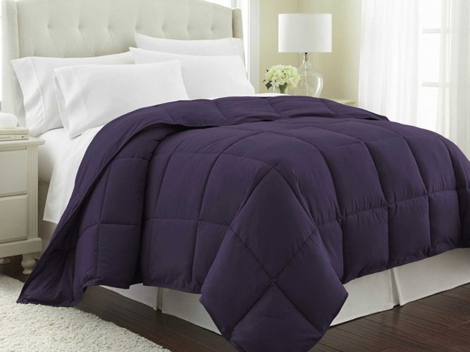 Purple Comforter Sets - Southshore Fine Linens - Vilano Springs - Down Alternate Weight Comforter - Eggplant Purple - KING - CALIFORNIA KING