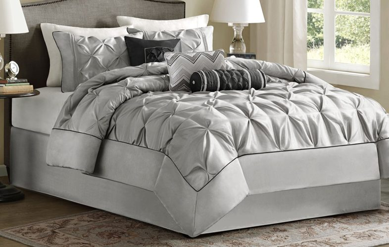 Madison Park Laurel Comforter Set, Queen, Grey
