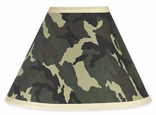 Sweet Jojo Designs Lamp Shade, Green Camo Army Military Camouflage