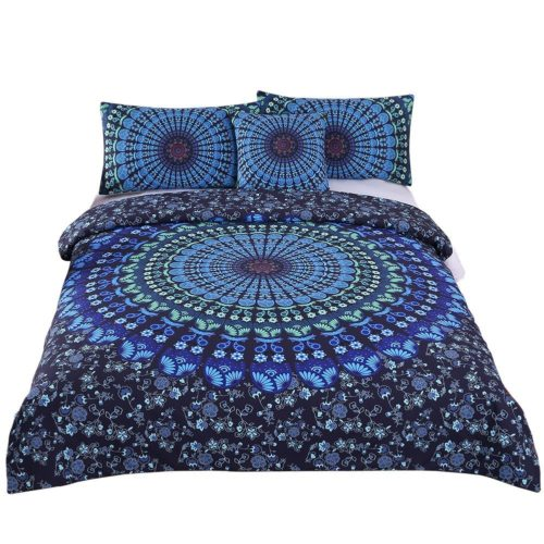 best college dorm bedding - Sleepwish 4 Pcs Bohemian Moonlight Bedding Set Bohemia Blue Nice Gift Plain Twill Home Textiles Duvet Cover Set Twin XL Size