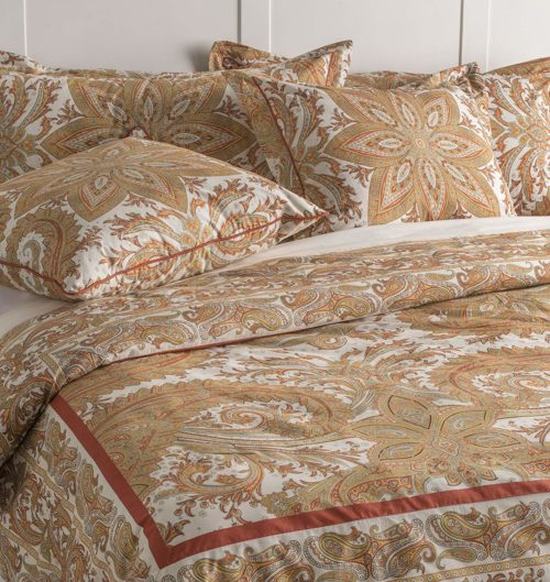 Maison d' Hermine Kashmir Paisley 100% Cotton King Duvet Cover Set 108 Inch by 92 Inch with 2 King Shams 36 Inch by 20 Inch.