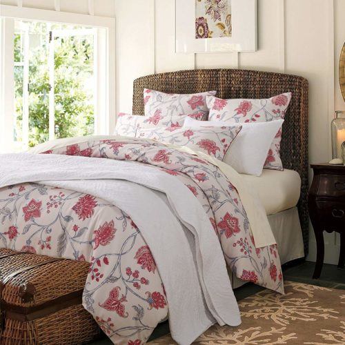 Shabby Flower Farmhouse Bedding 800 Thread Count 100% Cotton Deep Pocket 4Pcs Bed Sheet Set,Queen Size,Color 4
