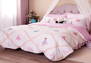 pink ballet girls' bedding set, pink ballet girls' comforter set