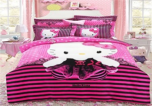 pink hello kitty girls' bedding set, girls' comforter set