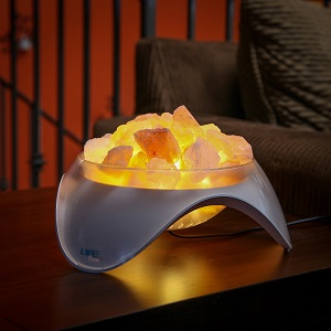 LIFE Home Serenity Himalayan Salt LED Lamp, Natural Crystal Air Purifier and Ionizer Ac18