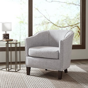 Bedroom Accessories Madison Park Fremont Barrel Arm Chair Cream