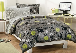 Skateboarding Boys' bedding set, Skateboarding Boys' comforter set