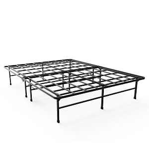 Zinus 14 Inch Elite SmartBase Mattress Foundation / for Big & Tall / Extra Strong Support / Platform Bed Frame / Box Spring Replacement / Sturdy / Quiet Noise Free / Non-Slip, Full Ac28