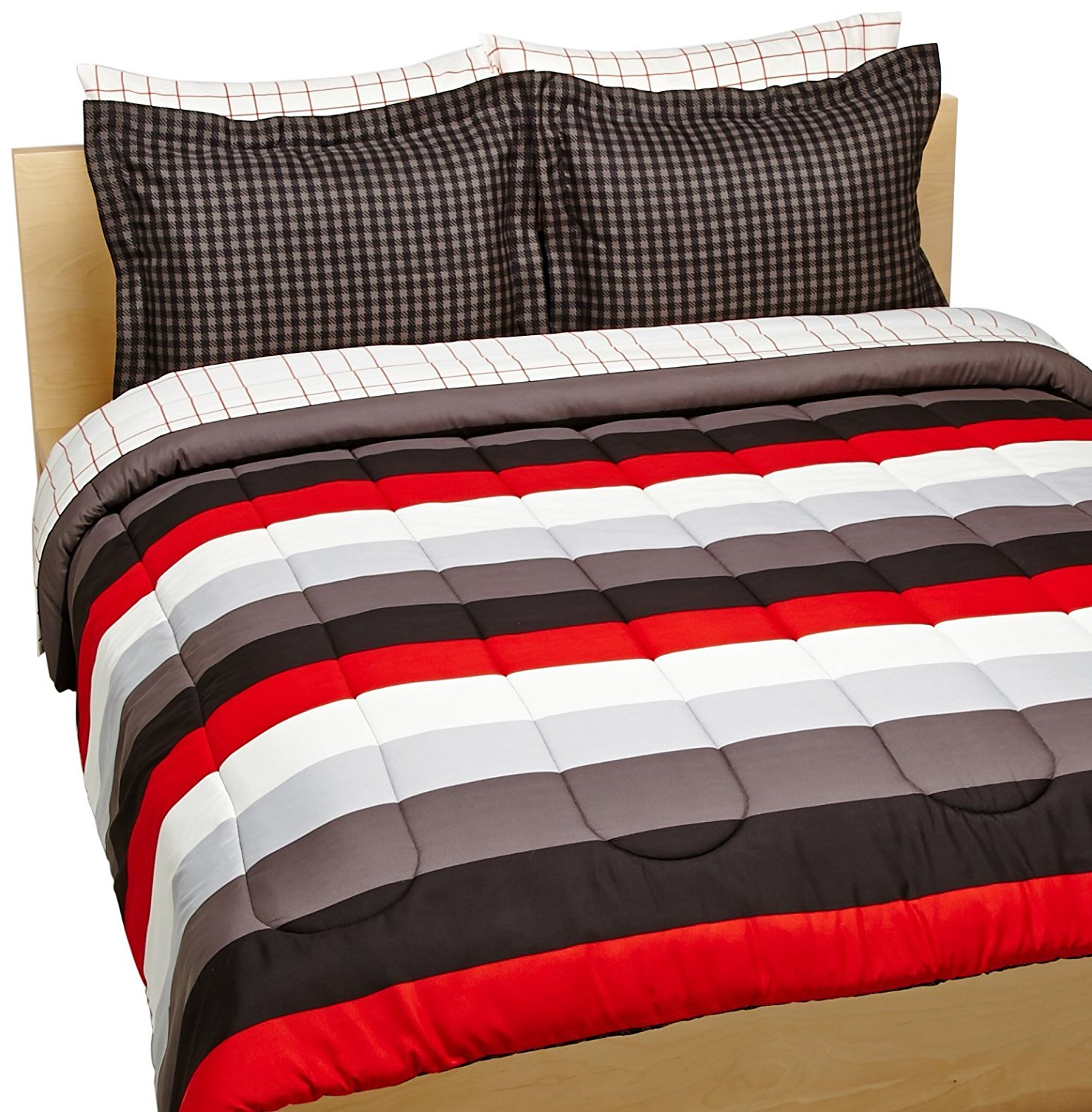 AmazonBasics Bed in a Bag Bedding - AmazonBasics 7 Piece Bed In A Bag, Full Queen