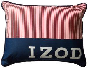 Izod Red White Blue Pillow