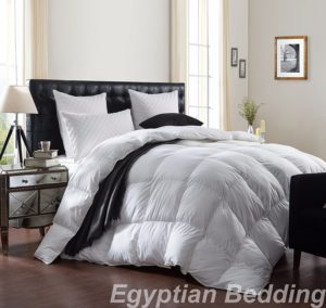 LUXURIOUS White GOOSE DOWN Comforter , King Size, 100% Egyptian Cotton Cover