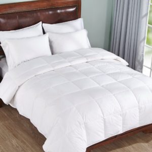 Lightweight Warm White Down Comforter , Full/Queen Size