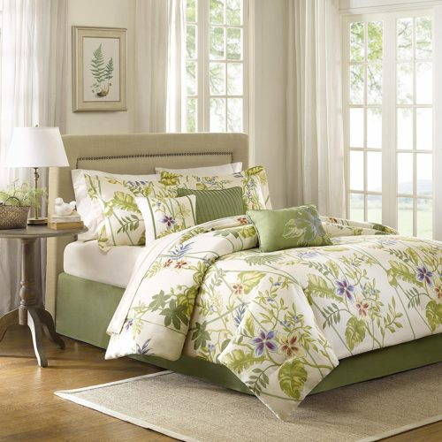 Madison Park Kannapali 7 Piece Touch of Yellow Floral Comforter Set