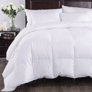 Puredown All Seasons White Down Comforter , Twin Size