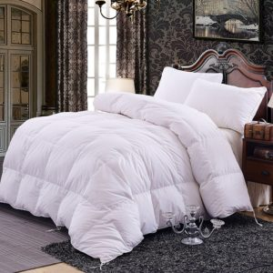 Topsleepy Luxurious All Size Bedding White Goose Down Filling Comforter, (King Size)
